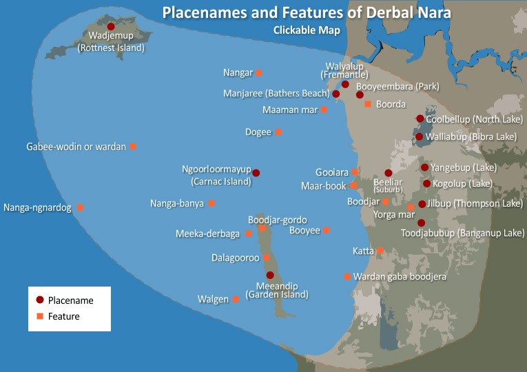 placenames and features of derbal nara